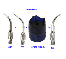 Sirona Scaling Tip GS1+GS2+GS3 + wrench Dental Scaler Tips Fit Sirona Handpiece