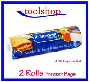 Kingfisher KC400FB Food Freezer Sandwich Bags Medium 2 Rolls Of 400