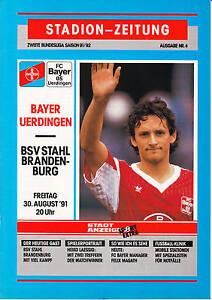 II. BL 91/92  Bayer 05 Uerdingen - BSV Stahl Brandenburg, 30.08.1991