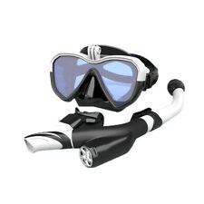 CamGo Professional Snorkel Set with Equaliser & Wide Viewing Mask