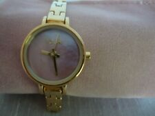 Ladies/Women's French Connection/FCUK Watch-Small Round Pink Face-Link Bracelet