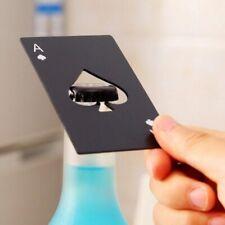 Black Card Spades Beer Bottle Opener Stainless Steel Bottle Opener Bar Tool