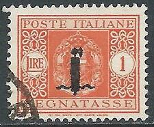 1944 RSI USATO SEGNATASSE 1 LIRA - R3-10