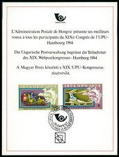 UNGARN UPU CONGRESS 1984 DELEGIERTEN-GESCHENK MINISTRY GIFT RARE !!! z1808