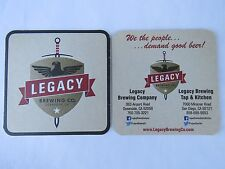 Beer COASTER <*> LEGACY Brewing Co ~^~ San Diego & Oceanside, CALIFORNIA Brewery