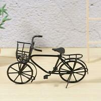 Dolls House Miniature-Black Metal Bicycle-Bike Garden Decor 1:12 Scale New
