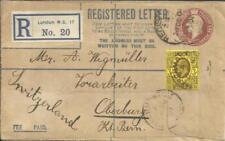 Great Britain Registered Postal Envelope HG:C33 uprated SG#233b MARCHMONT