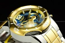 "Invicta Men 51mm Bolt ""Blue Devil"" Chrono Two Tone 18K GP Stainless Steel Watch"