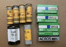 Fujifilm Fujichrome Velvia 50 RVP, Kodak 100 Acros Neopan, TMX, TMY Film 120mm