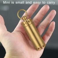 Brass Waterproof Canister Medicine Seal Capsule Bottle Outdoor EDC Tool TN2F