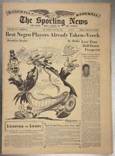 July 1947 Sporting News Brooklyn Dodgers Dem Bums Willard Mullin Negro Players