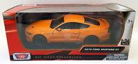 Motormax 1/24 Scale Model Car 79352 - 2018 Ford Mustang GT - Orange