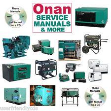Onan Bf Service Manual & Parts Operator -34- Rv Manuals on a Cd