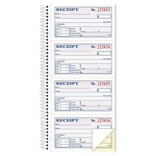 TOPS - Money/Rent Receipt Spiral Book, 2-3/4 x 4 3/4, 2-Part Carbonless, 200 Set