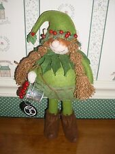 """Dept. 56 -Forest Holly Gnome Figure-New 2016- 12""""H"""
