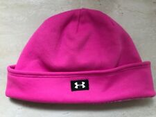 Under Armour Women's Ua Coldgear Storm Hat Beanie Pink. Water Resistant