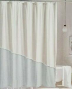 "Peri Home Color Block Fringe Fabric Shower Curtain 72"" x 72"" NIP"