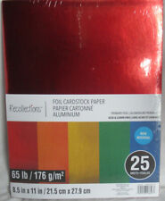 """Recollections Cardstock Paper 8 1/2"""" x 11"""" 25 Sheets 65 lb Solid Primary Foil"""