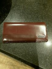 BURGANDY LEATHER PIERRE CARDIN CARDHOLDER WITH ZIPPED INNER POCKET/USED