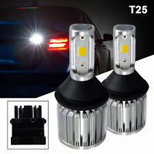 A1 2x T25 3157 LED Bulb COB 30W Extremely Bright Back Up Light 6000K Xenon White