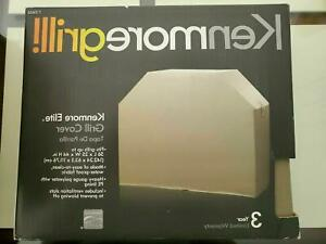"""Kenmore Elite Grill Cover, Tan, Heavy Gauge Polyester PE Lining, 56""""Lx25""""Wx44""""H"""