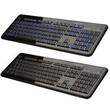 LogiLink Beleuchtet Tastatur blau orange PC Keyboard USB / Deutsches Layout