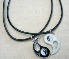 3a2ca8c27f NEW BEST FRIEND His and Hers Ying Yang Pendants 2 Necklace Set BFF  Friendship