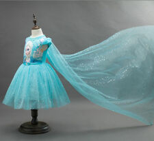 Frozen Girls Princess Dress Pageant Kids Anna Elsa Dresses Formal Party Skirt130