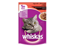 Whiskas  Cats Beef in Gravy Packet Pet Cat Food 1+ Age 100g