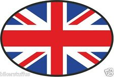 UK GREAT BRITAIN UNITED KINGDOM COUNTRY CODE OVAL WITH FLAG STICKER