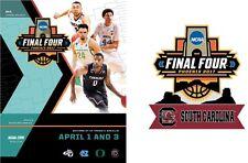 2017 MENS FINAL FOUR PROGRAM NCAA BASKETBALL SOUTH CAROLINA WITH TEAM LABEL