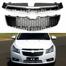 For CHEVY CRUZE 2011-2014 Front Bumper Upper & Lower Grille PAIR SET of 2 PCS