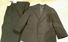 Boys Black striped suit, pants, jacket, size 4T Van Heusen, Communion, Holiday