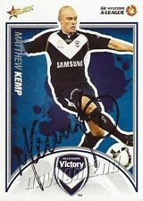 ✺Signed✺ 2009 2010 MELBOURNE VICTORY A-League Card MATTHEW KEMP