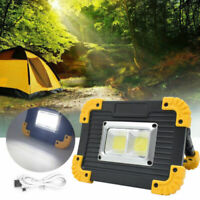 Portable Work Light COB LED 20W Cordless Rechargeable Camping Fishing Light