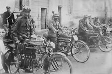 """INDIAN MOTORCYCLES, antique, 1910 photo, Police officers, 17""""x11"""""""