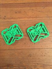 Fly Pedals Universal Clipless to Platform Adapters Green w/ SPD SM-SH51 Cleats