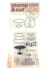 Hero Arts Stamp & Cut Birthday Clear Stamps & Matching Die Set DC125