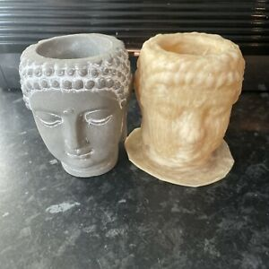 Buddha Head Goddess Latex Rubber Mould Mold Zen Garden Candle Tealight Holder