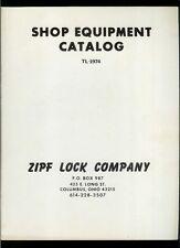 Super Rare Vintage Original 1974 ZIPF Lock Co Shop Equipment Catalog Key Cutters