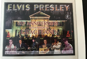 Elvis Presley Postage Stamp Arch Mint Unused Graceland Guinea Nr.C13