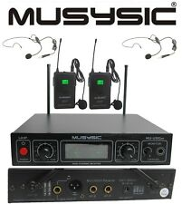 Musysic Professional Dual Channel Uhf Lapel Lavalier Wireless Microphone System