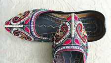 Señoras Negro Indio Boda Fiesta Khussa tamaño del zapato 8