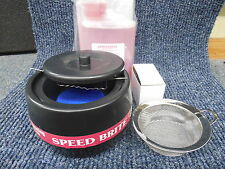 Speed Brite 200SB Ionic Cleaner SS Basket, Ring Hanger, Gem Sparkle Jewelry Coin