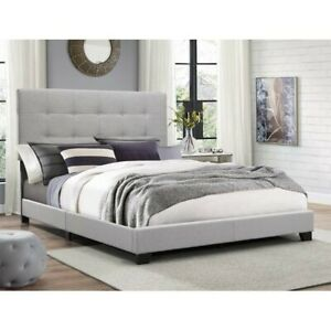 Crown Mark Florence 5270GY-Queen Bed - Gray