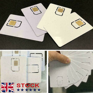 New Phone White Unlock Sim Chip for iPhone 12 11 X XS Max XR 8 7 SE Reuse UK.