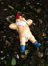 Funny Gift Idea Garden Gnome Nudist Nude Dwarf Flasher Lawn Ornament Decoration