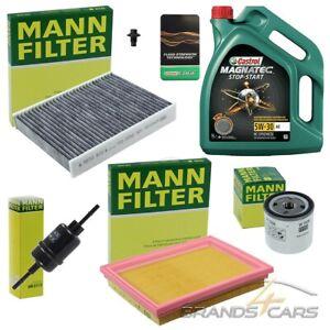 MANN-FILTER INSPEKTIONSPAKET+5L CASTROL MAGNATEC 5W-30 A5 FORD FIESTA 5 01-08
