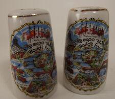 Pair Salt and pepper Shakers, Expo 1974, World's Fair, Spokane