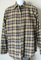 WEATHERPROOF VINTAGE Plaid Men's Button Down Buttoned Shirt Brown Checked L